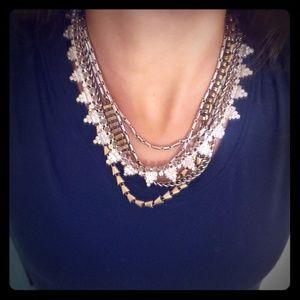 Stella & Dot Mixed Metals Statement Necklace